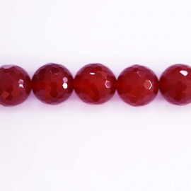 BeauMonde Jewelry - Agate  beads round faceted 10 mm fuchsia