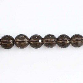BeauMonde Jewelry - Smoky quartz faceted bead 8 mm
