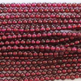 BeauMonde Jewelry - Garnet 3/2.5 mm round bead