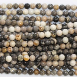 BeauMonde Jewelry - Jasper picasso 3 mm round bead