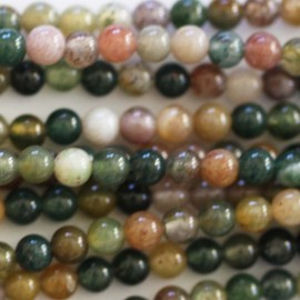 BeauMonde Jewelry - Agate India 3 mm round bead