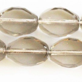 BeauMonde jewelry - Glass bead 13 x 10 mm oval faceted
