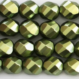 BeauMonde Jewelry - Bohemian beads 8 mm round faceted mother-of-pearl