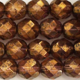 Bohemian beads 8 mm round faceted