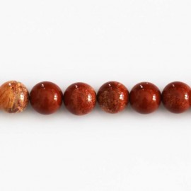 Jasper red round bead 8 mm
