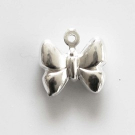 BeauMonde Jewelry - Pendant 11x10 mm bowed butterfly
