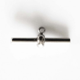 BeauMonde Jewelry - Clasp pin for PVC 4 mm silver metal