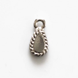 BeauMonde Jewelry - Drop pendant 9x6 mm 1 ring silver metal