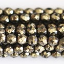 Pyrite 3 mm bead round faceted