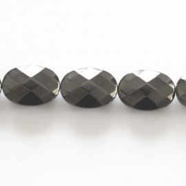 BeauMonde Jewelry - Hematite 10x14 oval faceted