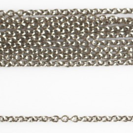 Round chain 1.6 mm thin metal silver