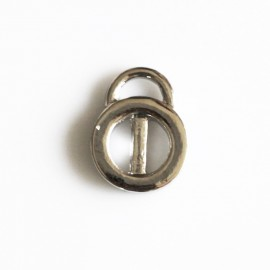 Ring bar 10 mm with silver metal pendant ring