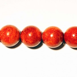 Coral sponge round pearl 10 mm treated