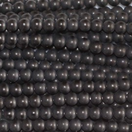 Agate black 3 mm round matte