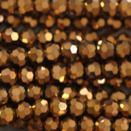 Bead 4 mm round faceted