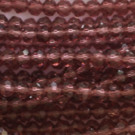 Glass bead faceted round 4 mm