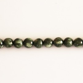 Seraphinite 6 mm round bead