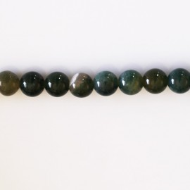 Agate mousse 6 mm round bead Africa