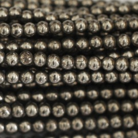 Hematite silver 3 mm bead round faceted