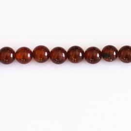 Hexonite 6 mm round bead Madagascar