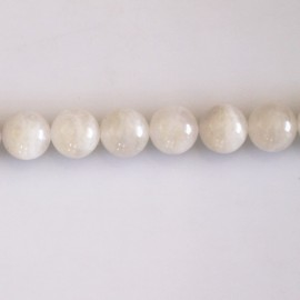 Moonstone 8 mm white round pearl