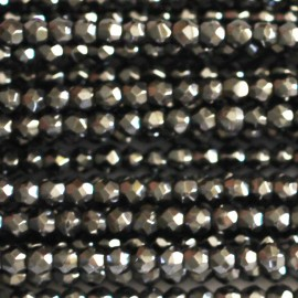Hematite bead 2 mm round faceted