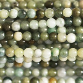 Jadeite 4 mm round bead
