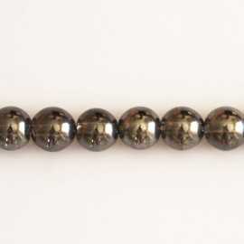 Crystal rock 8 mm round bead