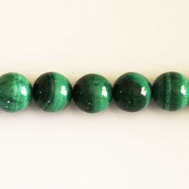 Malachite round bead 10 mm Africa