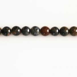 Pietersite 6 mm round bead brown tones