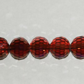 Glass bead faceted round 12 mm