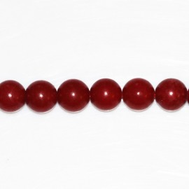 Dyed jade 8 mm round bead