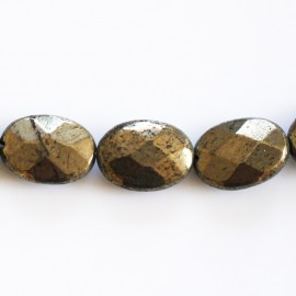Oval 10 x 14 mm faceted pyrite