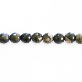 Opal grey 6 mm bead round faceted