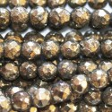 Pyrite 4 mm beads round faceted