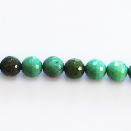 Opal green 8 mm bead round faceted