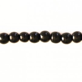 Wooden bead 6 mm round varnished