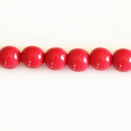 Wooden bead 8 mm round varnished