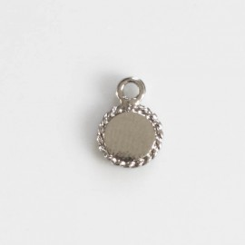 Medallion 8 mm one silver metal ring
