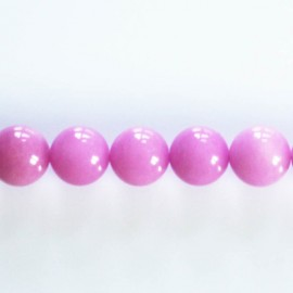 Jade dyed 10 mm round bead