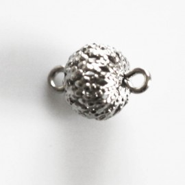 Filigree 8 mm bead with 2 rings