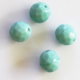 Bead 10 mm round faceted