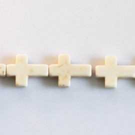 Howlite 12 X 16 mm cross