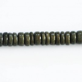 Coconut washer 8 mm green grey