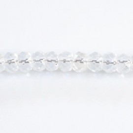 Rock crystal 4x6 mm faceted washer
