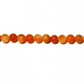 Agate fire smooth round pearl bead 4 mm