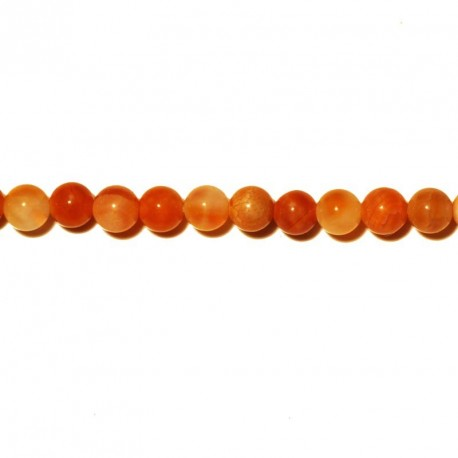 Agate fire perle ronde lisse 4 mm