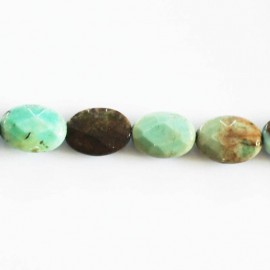 Green opal 10 x 14 mm oval faceted