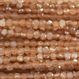 Bead 4 mm flat faceted
