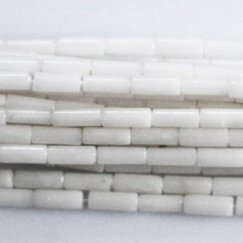Bamboo 2 x 6 mm white tube